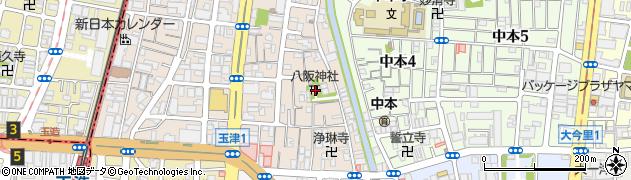 八阪神社周辺の地図