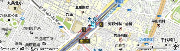 九条駅パーキング周辺の地図