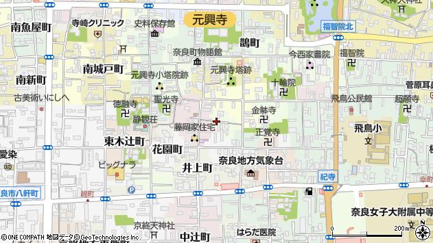 〒630-8318 奈良県奈良市納院町の地図