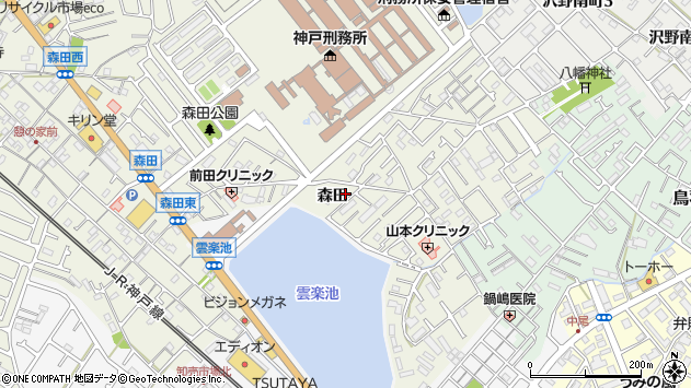 〒674-0061 兵庫県明石市大久保町森田の地図