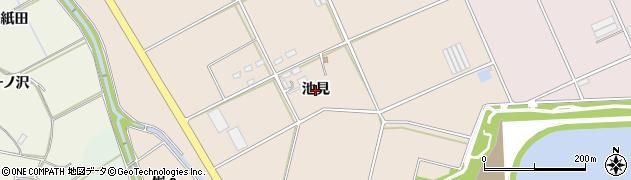 愛知県豊橋市西赤沢町(池見)周辺の地図