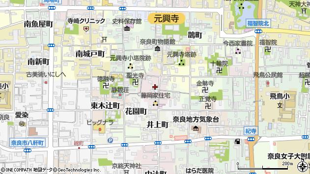 〒630-8332 奈良県奈良市元興寺町の地図