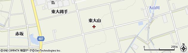 愛知県豊橋市高塚町(東大山)周辺の地図