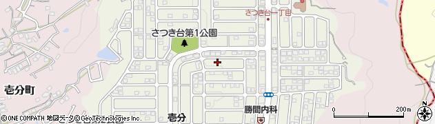 奈良県生駒市さつき台周辺の地図