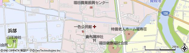静岡県磐田市一色周辺の地図