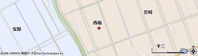 愛知県田原市谷熊町(西輪)周辺の地図