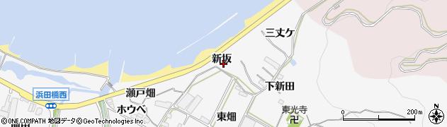 愛知県田原市仁崎町(新坂)周辺の地図