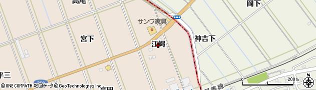 愛知県田原市谷熊町(江縄)周辺の地図