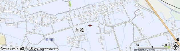 岡山県岡山市北区加茂周辺の地図