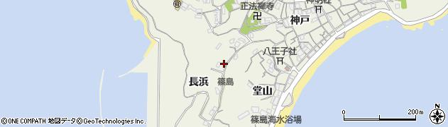 愛知県南知多町(知多郡)篠島(長浜)周辺の地図