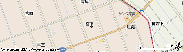 愛知県田原市谷熊町(宮下)周辺の地図