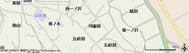 愛知県豊橋市杉山町(河内前)周辺の地図
