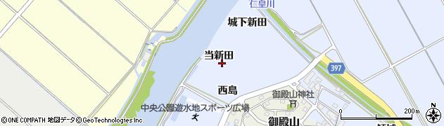 愛知県田原市豊島町(当新田)周辺の地図