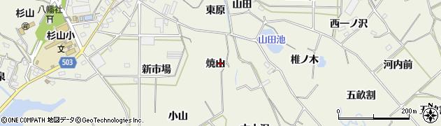 愛知県豊橋市杉山町(焼山)周辺の地図