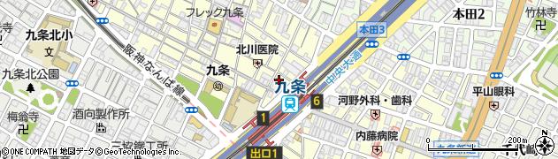 大阪府大阪市西区九条周辺の地図
