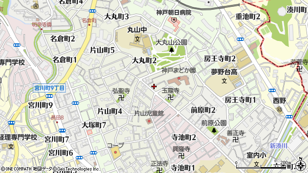 〒653-0806 兵庫県神戸市長田区大丸町の地図