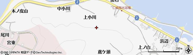 愛知県田原市仁崎町(上小川)周辺の地図