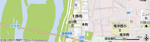 静岡県磐田市十郎島周辺の地図