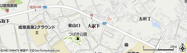 愛知県田原市田原町(大沢下)周辺の地図