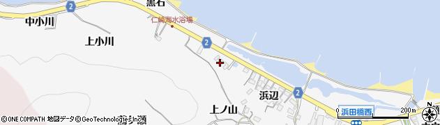 愛知県田原市仁崎町(上ノ山)周辺の地図