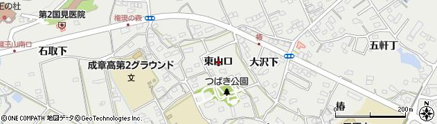 愛知県田原市田原町(東山口)周辺の地図