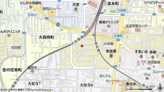 〒630-8131 奈良県奈良市大森町の地図