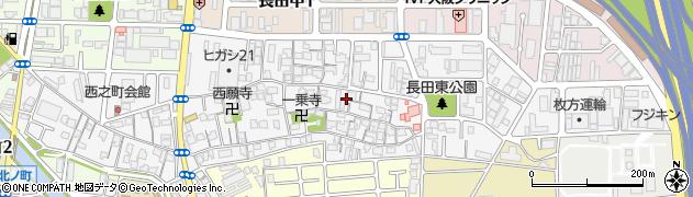 大阪府東大阪市長田周辺の地図