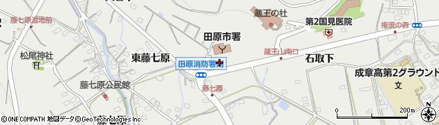愛知県田原市田原町(丸田)周辺の地図
