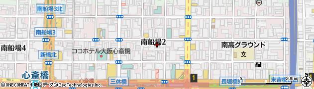大阪府大阪市中央区南船場2丁目6-28周辺の地図