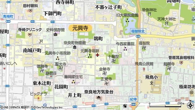 〒630-8383 奈良県奈良市毘沙門町の地図