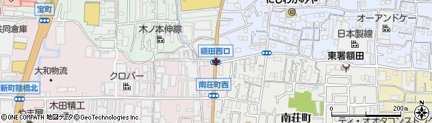額田西口周辺の地図