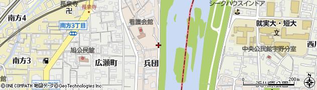 岡山県岡山市北区兵団周辺の地図