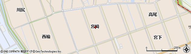 愛知県田原市谷熊町(宮崎)周辺の地図