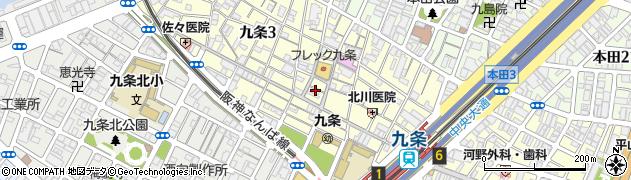 大阪府大阪市西区九条2丁目24-12周辺の地図
