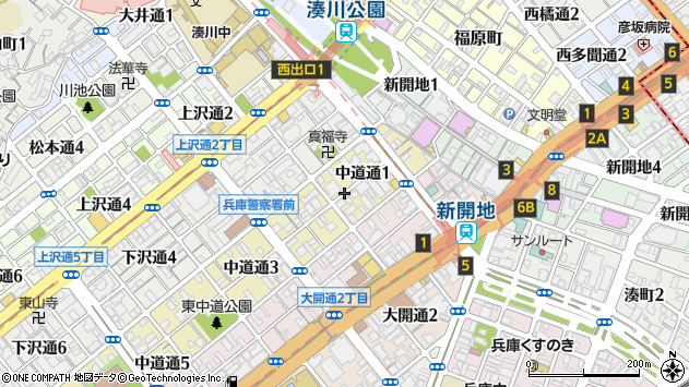〒652-0801 兵庫県神戸市兵庫区中道通の地図