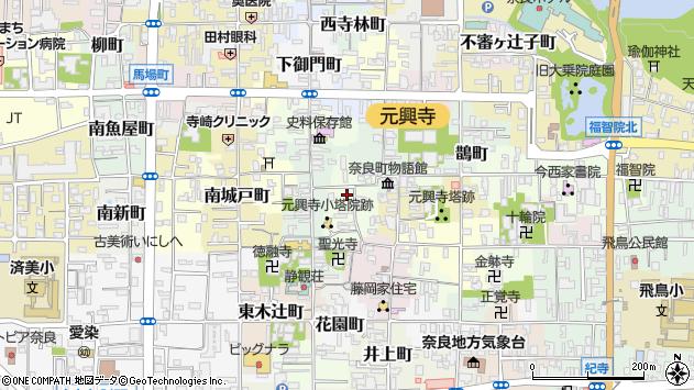 〒630-8334 奈良県奈良市西新屋町の地図