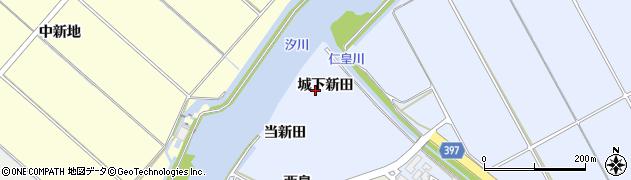 愛知県田原市豊島町(城下新田)周辺の地図