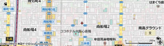 大阪府大阪市中央区南船場3丁目2-6周辺の地図
