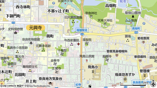 〒630-8381 奈良県奈良市福智院町の地図
