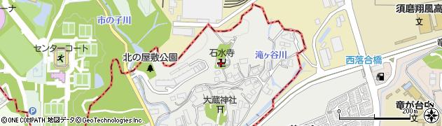 石水禅寺周辺の地図