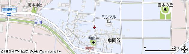静岡県袋井市東同笠周辺の地図