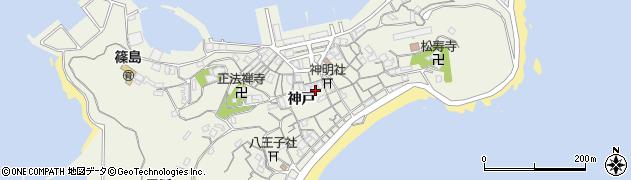 愛知県南知多町(知多郡)篠島(神戸)周辺の地図