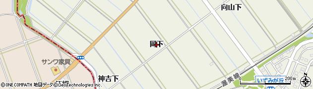 愛知県豊橋市杉山町(岡下)周辺の地図