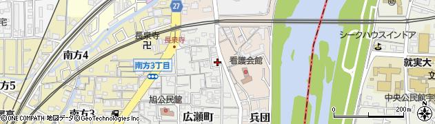 岡山県岡山市北区広瀬町周辺の地図