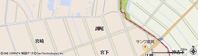 愛知県田原市谷熊町(高尾)周辺の地図