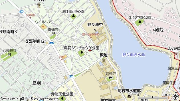 〒673-0008 兵庫県明石市沢野の地図