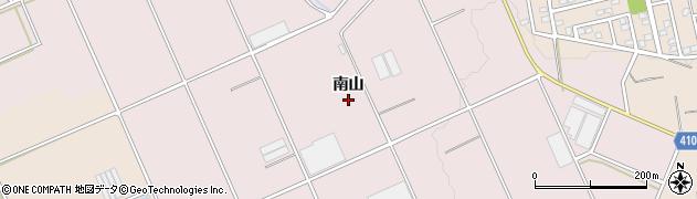 愛知県豊橋市老津町(南山)周辺の地図