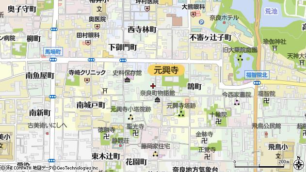 〒630-8333 奈良県奈良市中新屋町の地図