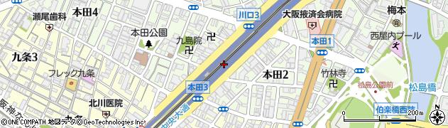 大阪府大阪市西区本田周辺の地図