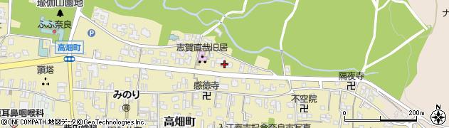 奈良教育大北寮周辺の地図